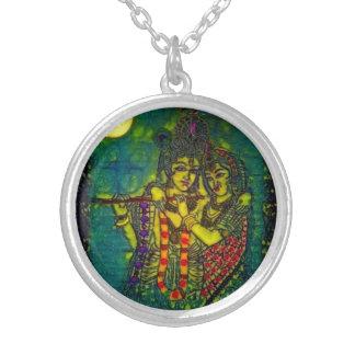 Radha Krishna1 Round Necklace