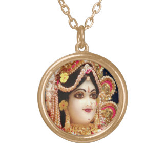 Radha KRISHNA  for Love, Peace n Prosperity Gold Plated Necklace