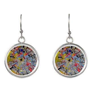 Radial Art Drop Earrings