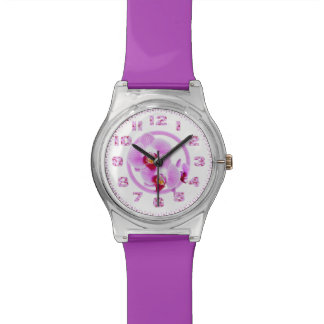 Radiant Orchid Closeup Photo with Circular Frame Watch