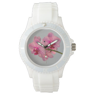 Radiant Pink Orchids Sporty Watch