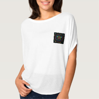 Radiate Love Colorful Painting Pocket Style Tshirts