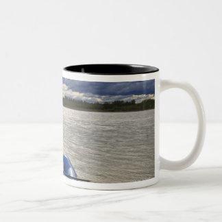 Rafting on Talkeetna River, Alaska Two-Tone Coffee Mug