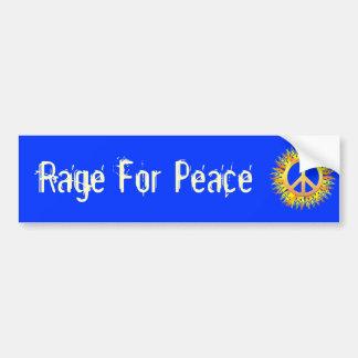 Rage For Peace Bumper Sticker