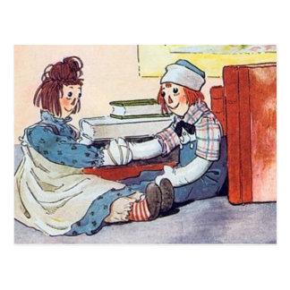 Raggedy Ann & Andy - Postcard