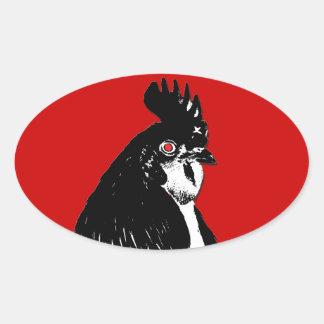 Raging Chicken Logo Oval Sticker