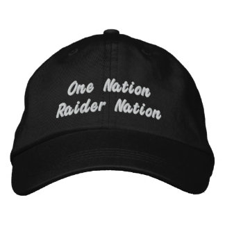 raider nation hat embroidered hats