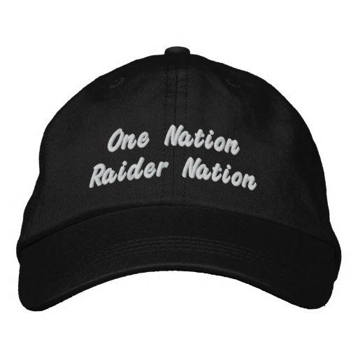 raider nation hat embroidered hats