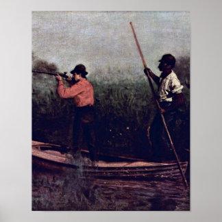 Rail Shooting. by Thomas Cowperthwait Eakins Posters