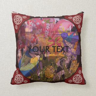 Railwaiy Garden Throw Pillow