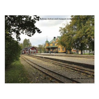 Railway station and museum in M... Postcard