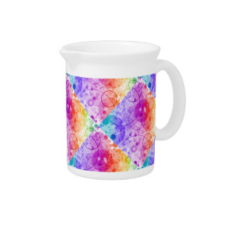 RAIN BUBBLES IN RAINBOWS PITCHER