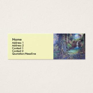 Rain Forest Landscape River Waterfalls Art Mini Business Card