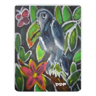 Rain forest  toucan art door sign