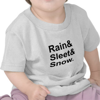 Rain Sleet Snow | Postal Weather Conditions Baby T-Shirt