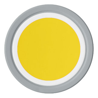 RAINBO GAME Playing Piece - LARGE YELLOW ON WHITE Set Of Poker Chips
