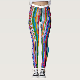 Rainbow Abstract print Leggings