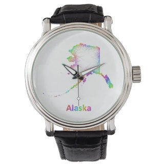 Rainbow Alaska map Watch