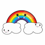 rainbow and cloud pals cut outs