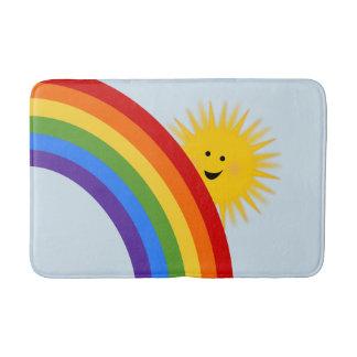 Rainbow And Sunshine Bath Mat