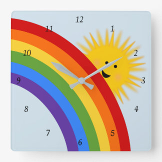 Rainbow And Sunshine Clock