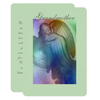 Rainbow Angel Grandmother 11 Cm X 16 Cm Invitation Card