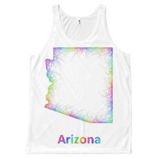 Rainbow Arizona map All-Over Print Singlet