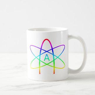 Rainbow Atheist Symbol Basic White Mug