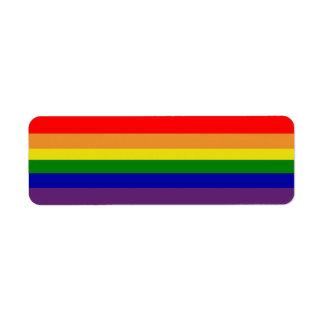 Rainbow Avery Label