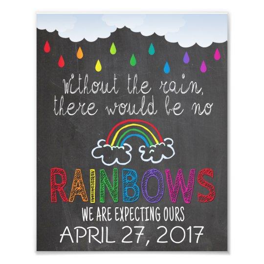 Rainbow Baby Announcement Photo Prop Sign 8 X 10 Zazzle