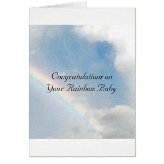 Rainbow Baby Congratulations Card