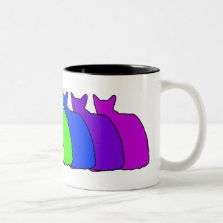 Rainbow Balinese Two-Tone Coffee Mug