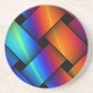 Rainbow Basket Weave Coaster