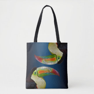 Rainbow-Billed Toucan All Over Print Bag(Blue Mix) Tote Bag