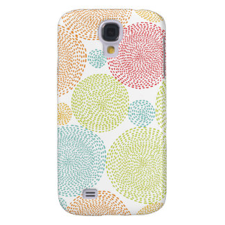 Rainbow Blooms Colorful Pom Doodle Whimsical Girly Galaxy S4 Case