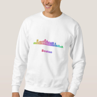 Rainbow Boston skyline Sweatshirt