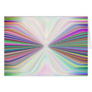 Rainbow bowtie greeting card