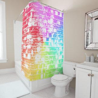 Rainbow Bricks Shower Curtain