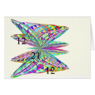 Rainbow Butterfly Note Card