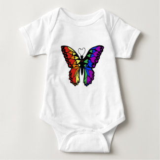 rainbow butterfly hearts baby bodysuit