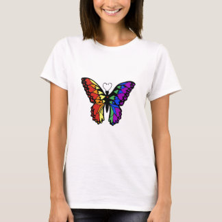 rainbow butterfly hearts T-Shirt