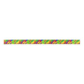 Rainbow Camouflage Ribbon Satin Ribbon