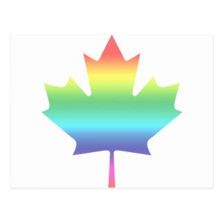 Rainbow Canada Postcard