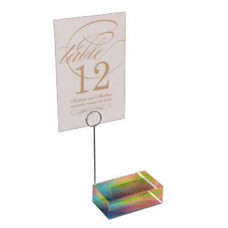 Rainbow Card Holder Table Card Holder