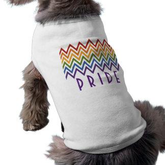 Rainbow Chevron Pattern custom pet clothing