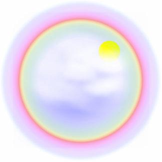 Rainbow Circle Photo Sculpture Key Ring