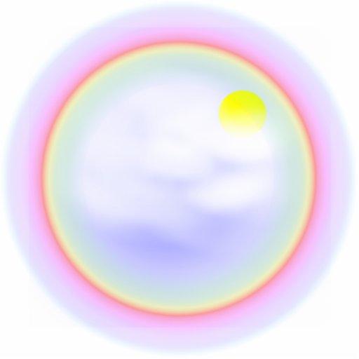 Rainbow Circle Photo Cutout