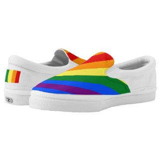Rainbow Classic Kicks Zip Slip on Shoes Printed Shoes