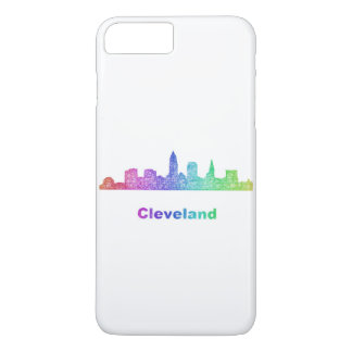 Rainbow Cleveland skyline iPhone 8 Plus/7 Plus Case