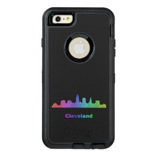 Rainbow Cleveland skyline OtterBox Defender iPhone Case